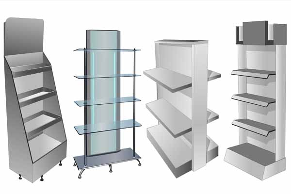 Custom retail display shelves